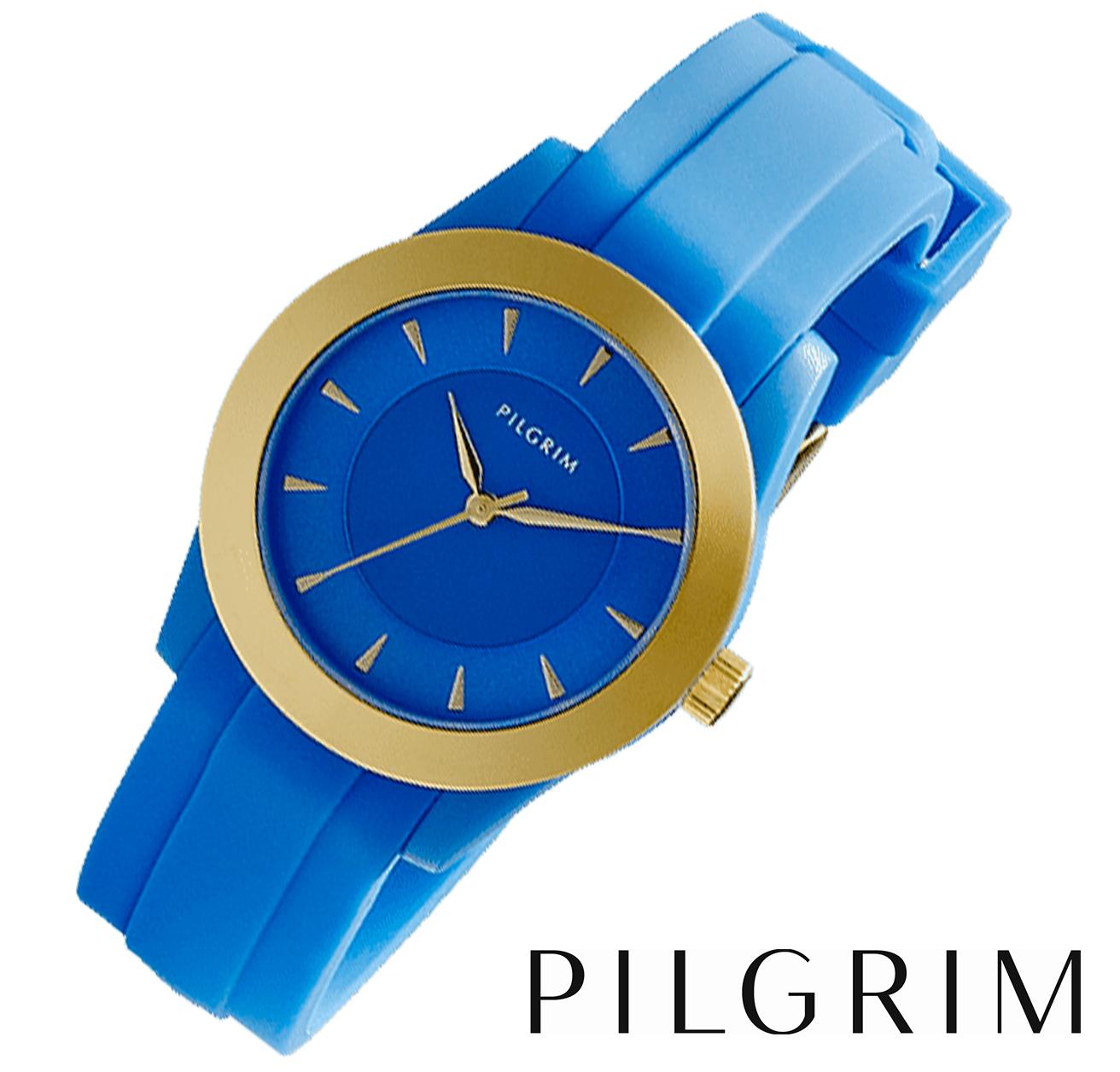pilgrim klocka blå
